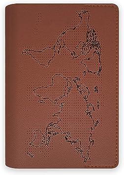 Funda Porta Pasaporte Documentos de Viaje con Mapa del Mundo para marcar los países visitados con Aguja e Hilo incluidos Apto para Regalo, niños, Familia: Amazon.es: Equipaje