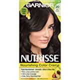 Amazon Price History for:Garnier Nutrisse Nourishing Hair Color Creme, 20 Soft Black (Black Tea) (Packaging May Vary)