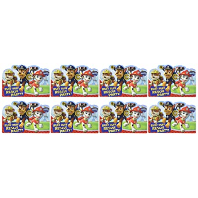 Paw Patrol Invitations 8 Ct: Toys & Games