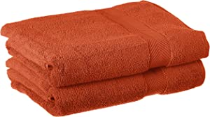 SUPERIOR Zero Twist 100% Cotton Bathroom, Super Soft, Fluffy, and Absorbent, Premium Quality Towel Set, Bath, Brick