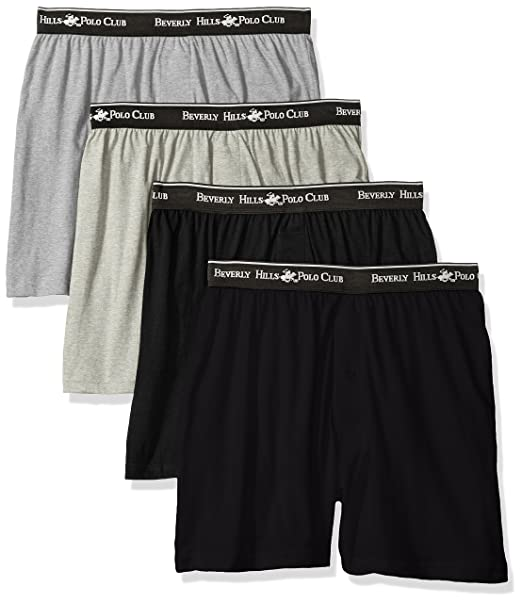 Beverly Hills Polo Club Men s 4 Pack Knit Boxer at Amazon Men s Clothing  store  894b0e62545