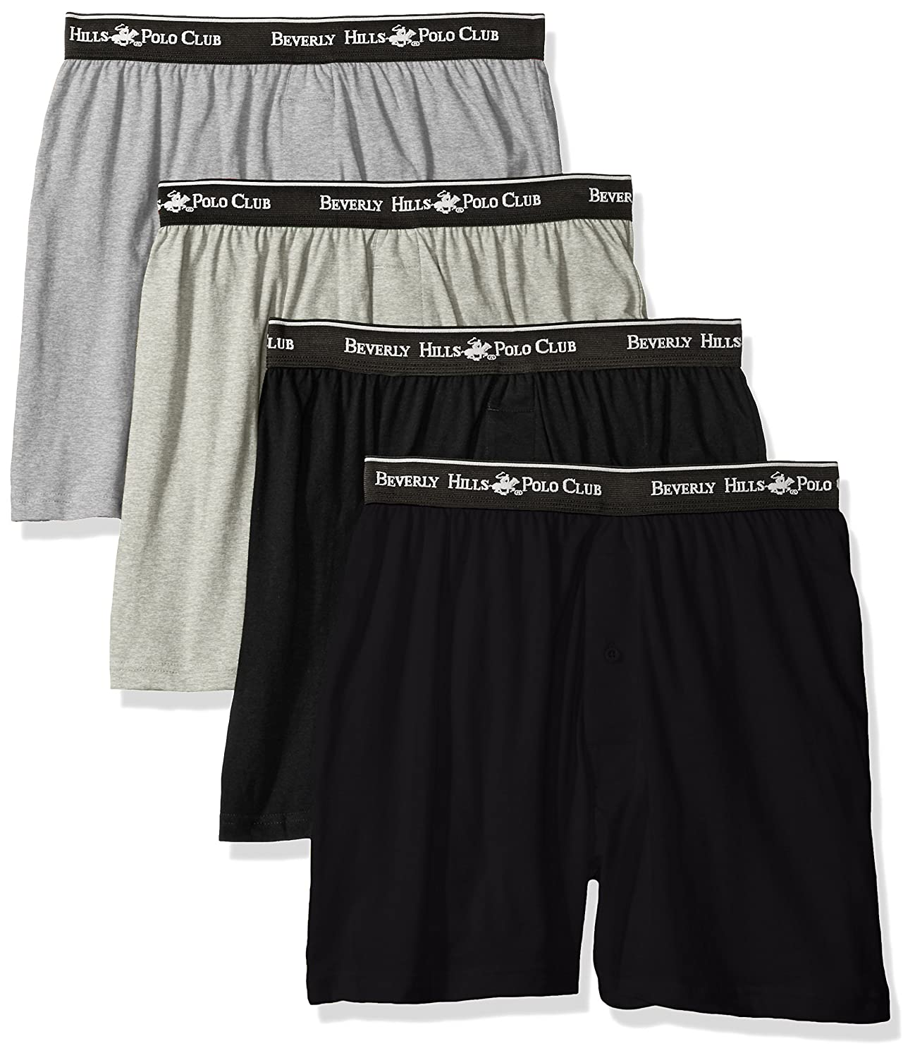 Beverly Hills Polo Club Men's 4 Pack Knit Boxer M1007KG