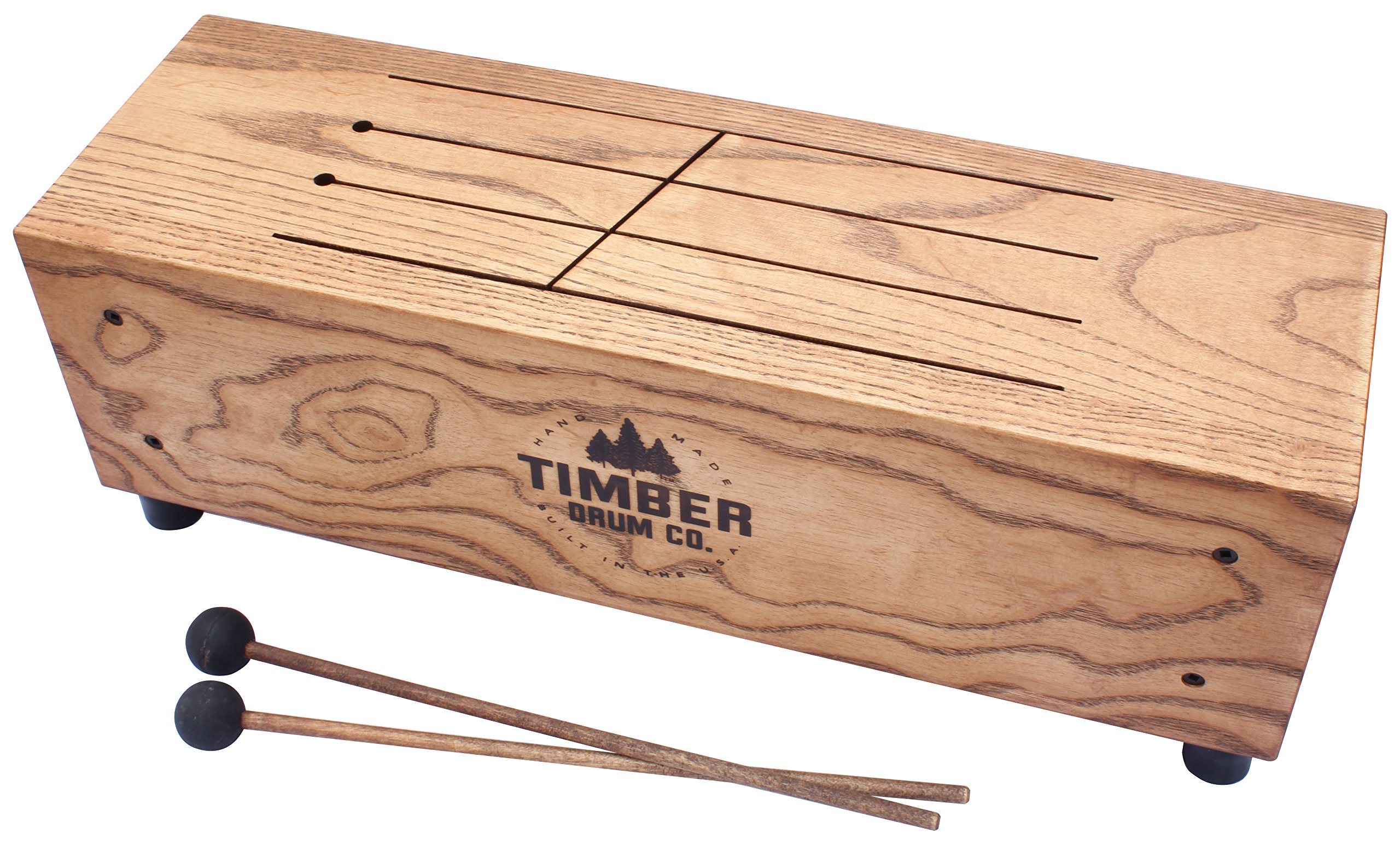 Timber Drum Co. T18-M Made in USA Slit Tongue Log Drum with Mallets (VIDEO)