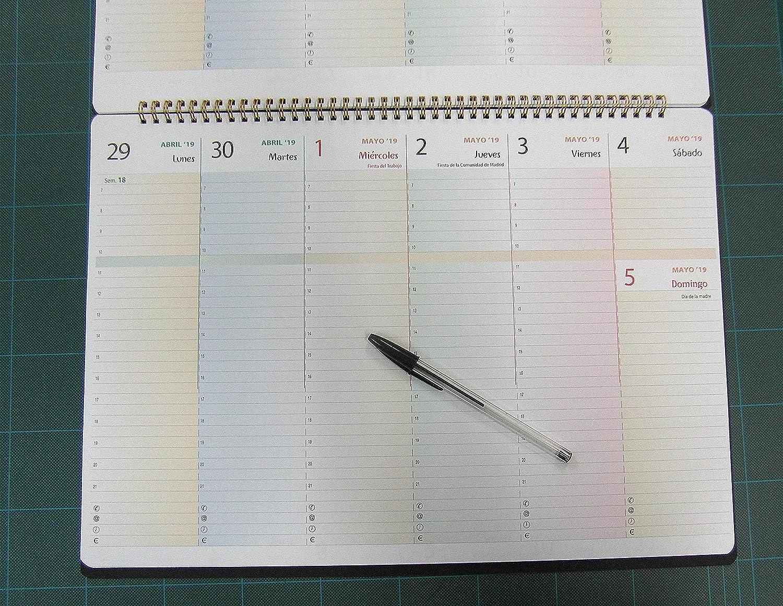 Planificador semanal de mesa 2018 y 2019-42x30cm. A3 ...