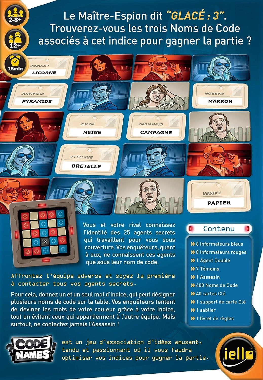 Iello - 51285 Codenames - Juego de asociación de Ideas - Version Francesa: Amazon.es: Juguetes y juegos