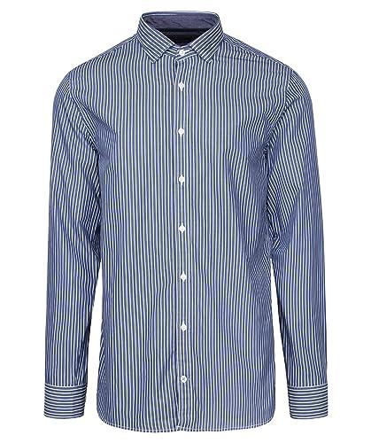Tommy Hilfiger Herren Hemd New York Fit Langarm Blau (51) M