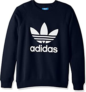 adidas Originals Mens Men's Trefoil Crew Sweatshirt Legend Ink M/M Adult adidas originals Child Code (Fashion) BQ7519