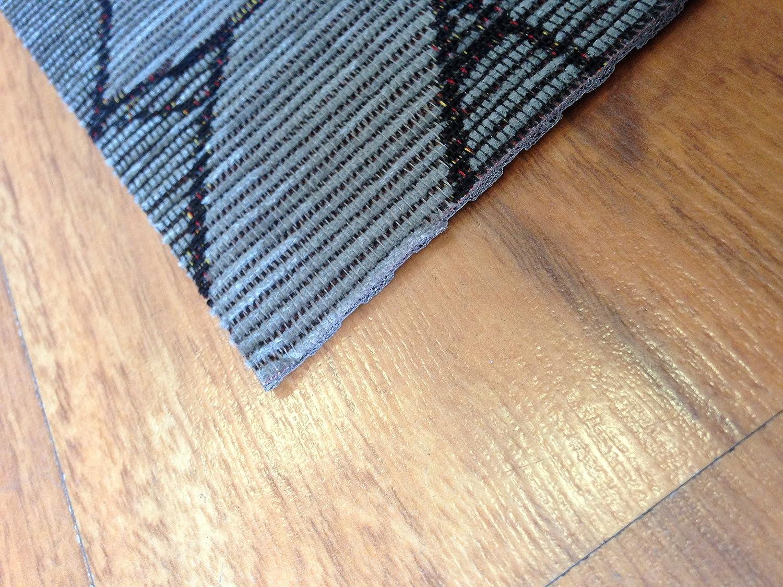 Tappeto cucina 53 x 300 grigio moderno antiscivolo geometrico ...