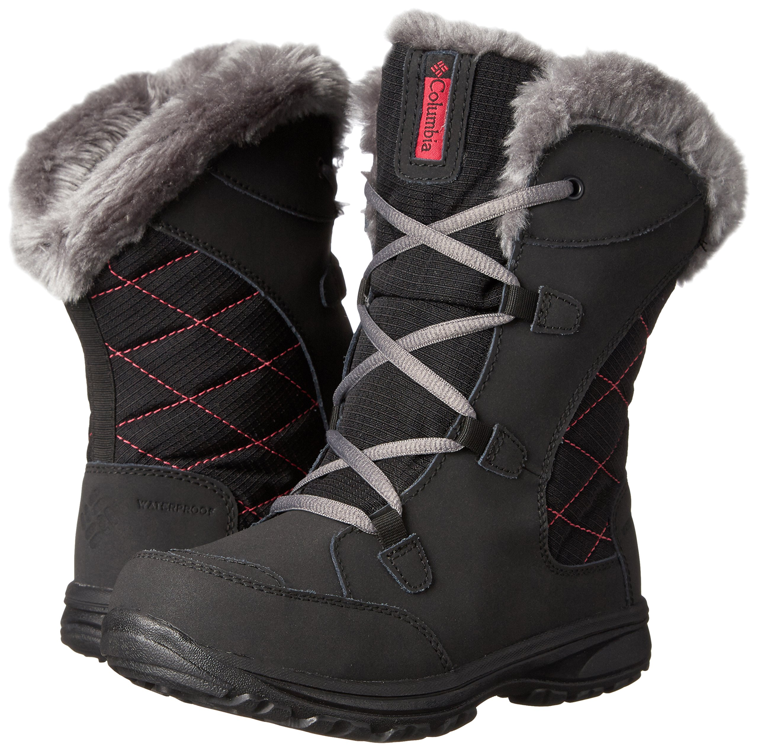 Columbia Youth Ice Maiden Lace Winter Boot (Little Kid/Big Kid), Black, 1 M US Little Kid by Columbia (Image #6)