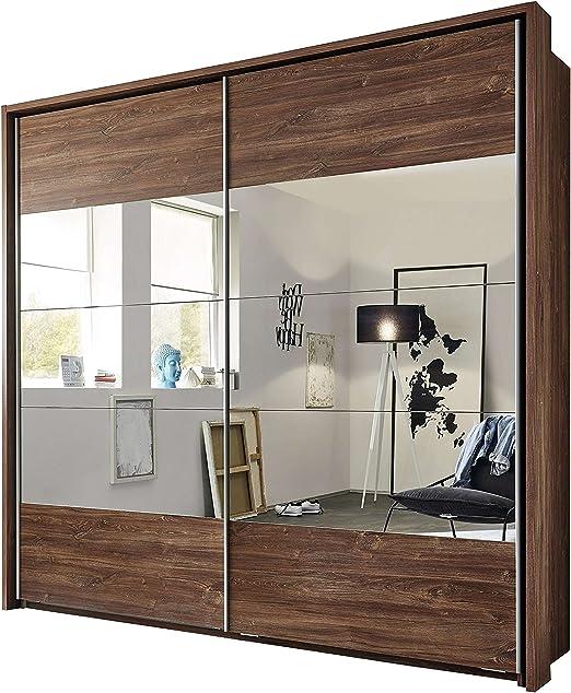 Avanti Trendstore – pilú – Armario de puertas correderas con espejo frontal de acacia Decoración, medidas: BHT aprox. 215 x 210 x 60 cm: Amazon.es: Jardín