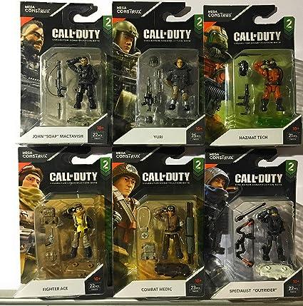 Amazon Com M B Mega Construx Call Of Duty Series 2 Set Of 6 Specialist Figures Yuri Medic Ace Outrider Hazmat Mactavish Toys Games