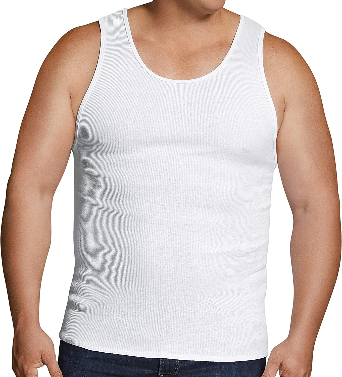 Fruit of the Loom Men's Tag-Free Tank A-Shirt at  Men's Clothing store