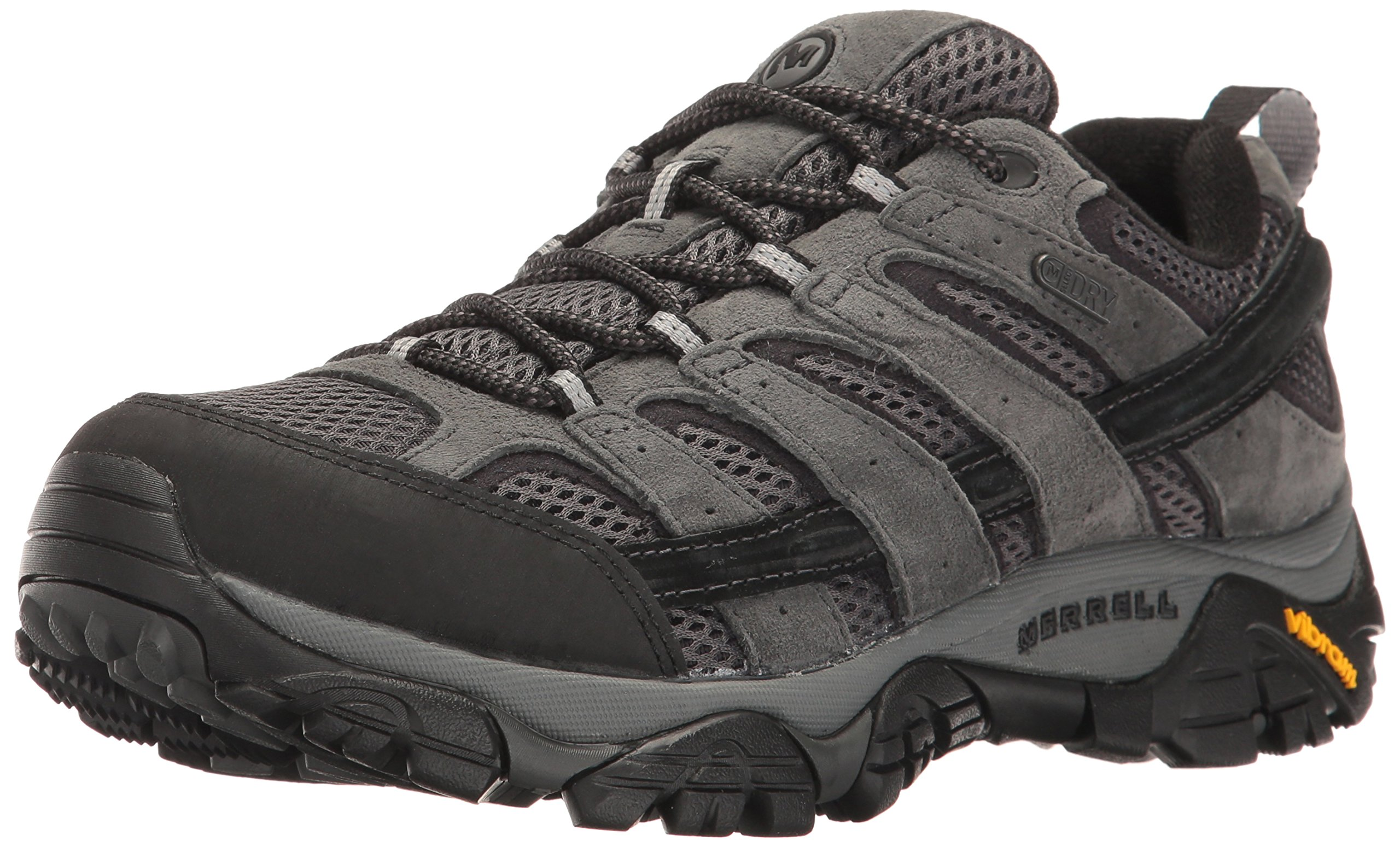 Merrell Men's Moab 2 Waterproof Hiking Shoe, Granite, 7.5 2E US