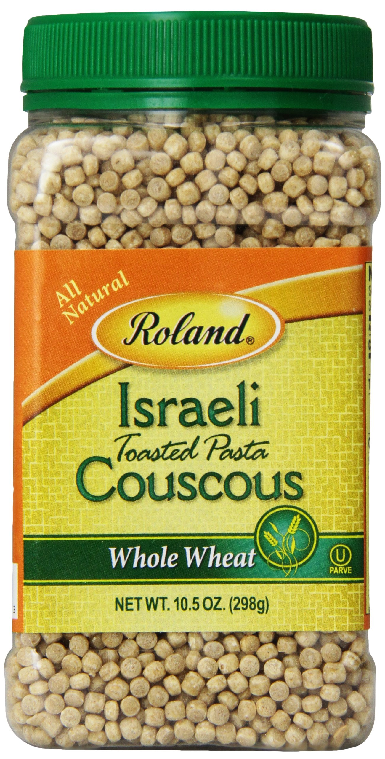Roland Israeli Couscous, Whole Wheat, 10.5 Ounce (Pack of 6) by Roland
