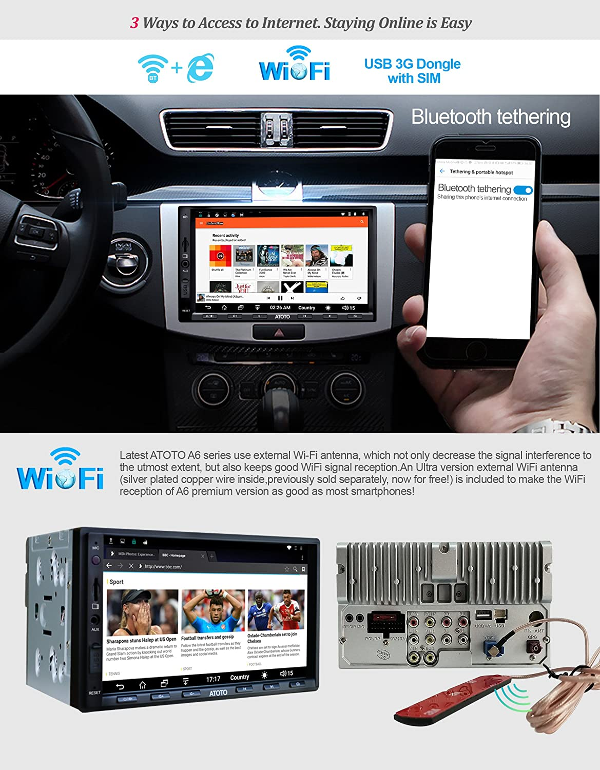 Atoto A6 2din Android Car Navigation Stereo With Dual Scosche Wiring Harness Problems Electronics