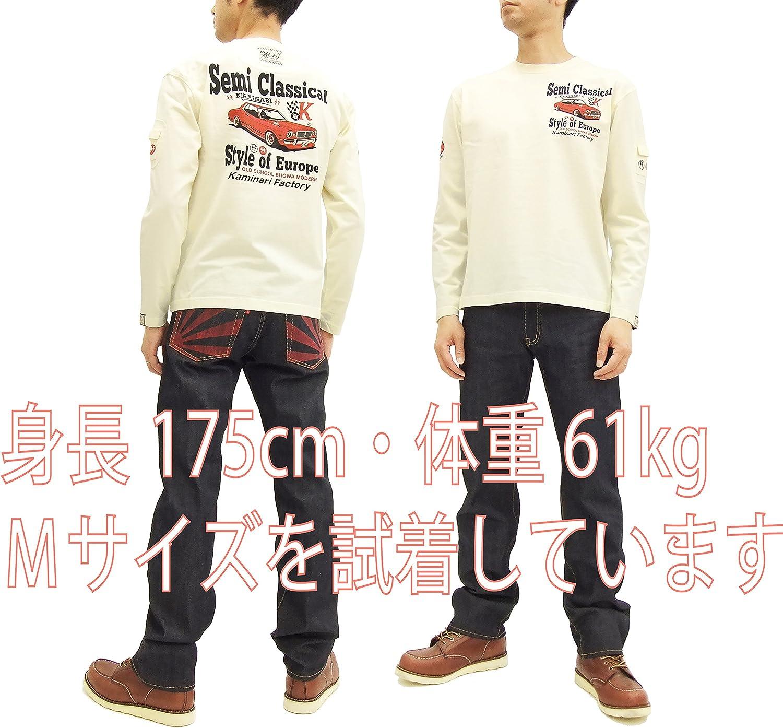 Kaminari Mens Long Sleeve T-shirt Japanese Old Car KMLT-132