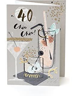 Happy 40th Birthday Card For Her Ladies Womens Friend Quality Age