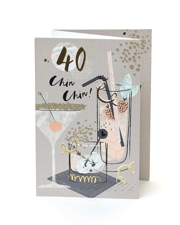 Happy Birthday 40 Glamorous Style Dress 40th Birthday Greeting Card