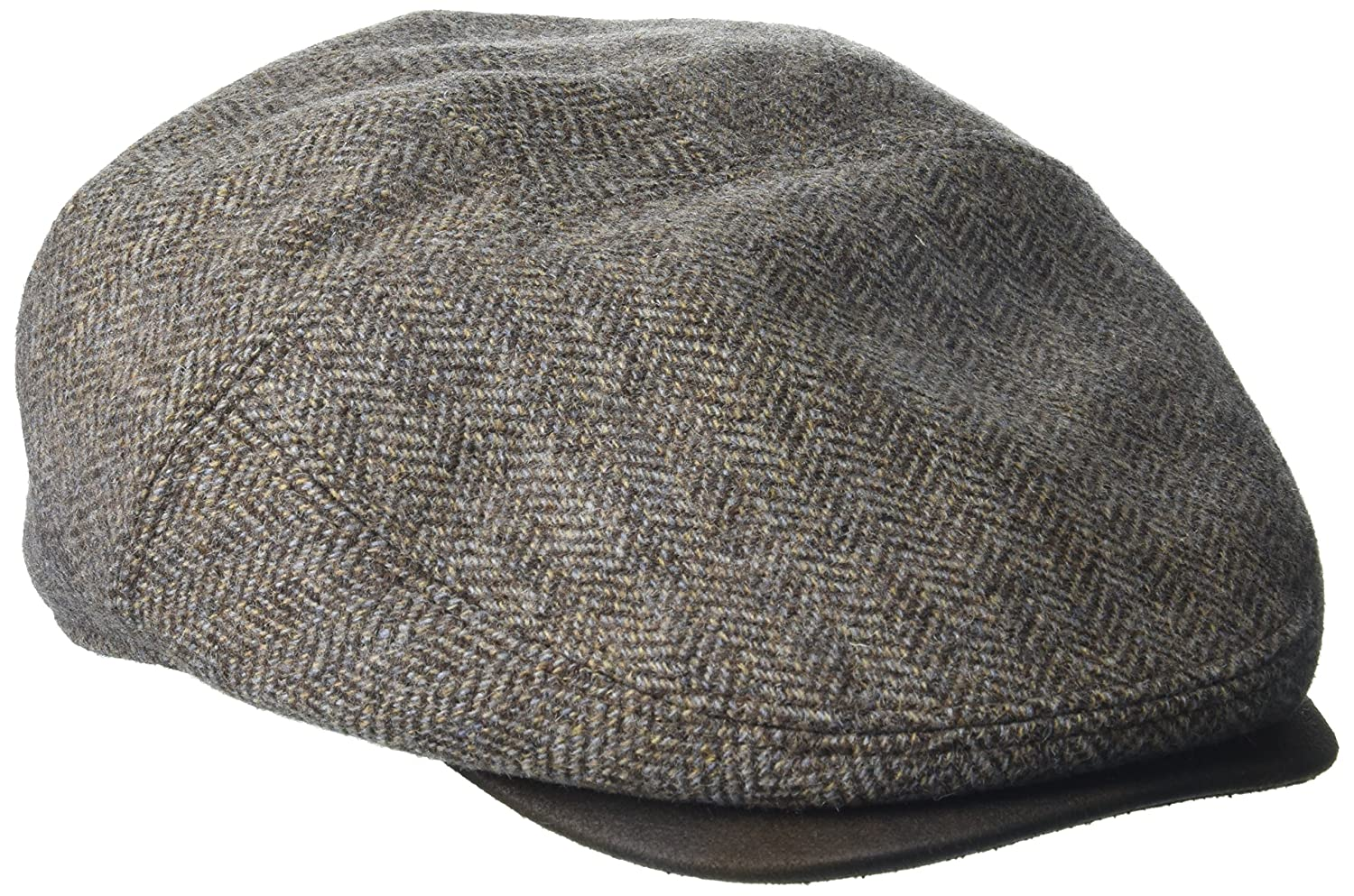 Henschel Mens Herringbone New Shape Ivy Hat with Suede Visor Henschel Headwear Child Code 4511