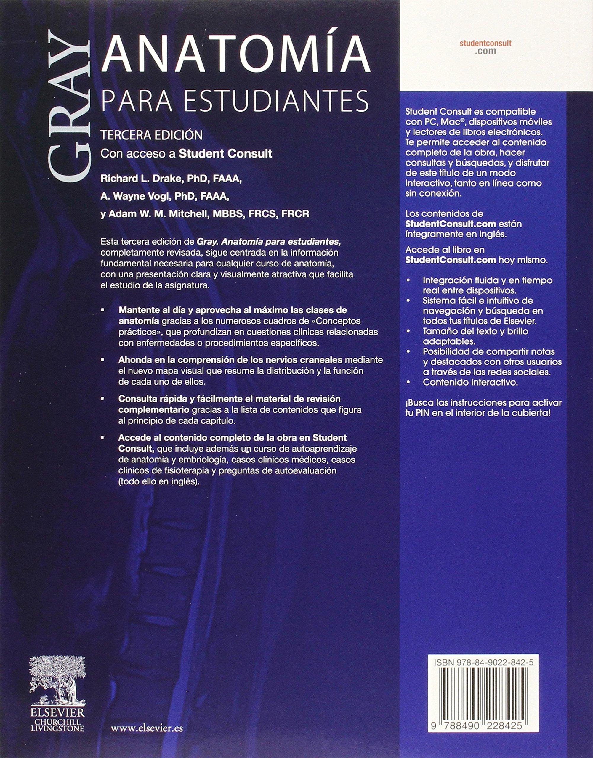 Gray. Anatomía Para Estudiantes - 3ª Edición: Amazon.es: Richard L ...