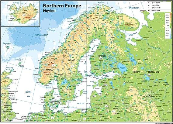 Europa Del Nord Cartina Muta.Sentirsi Male Telaio Danno Europa Carta Muta Amazon Monzacorre It