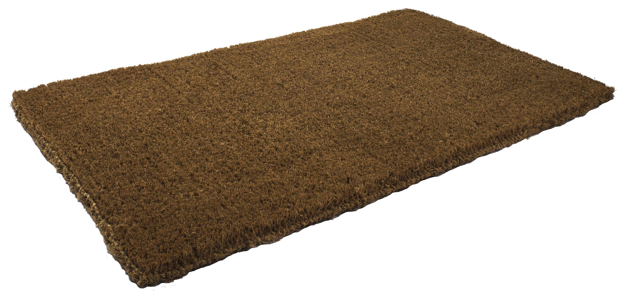Entryways Blank Extra Thick Handmade, All-Natural Coconut Fiber Coir Doormat 18'' X 30'' X 1.5''