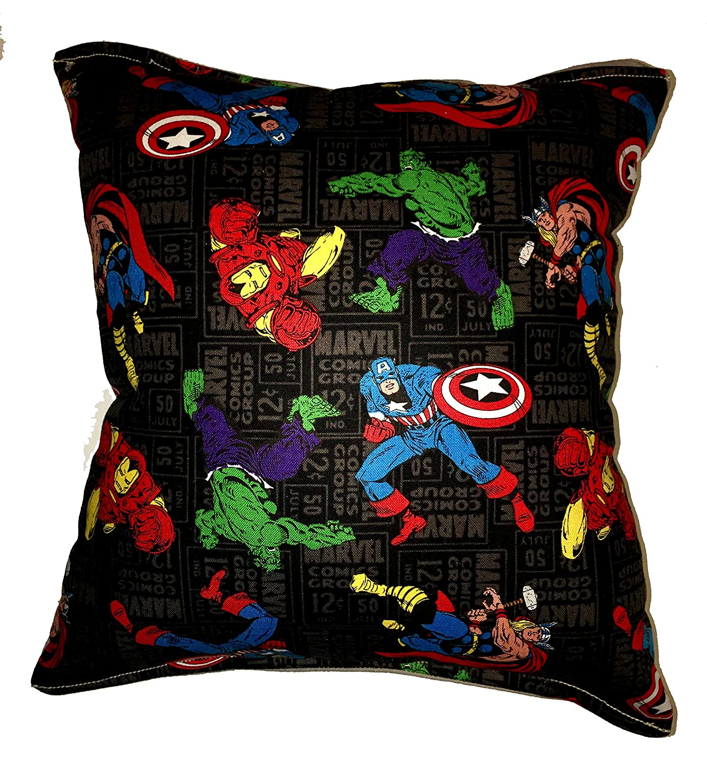 "Avengers Pillow Marvel Classic Hero's Pillow Hulk , Iron man , Captain America , Thor Pillow is approximately 10"" X 11"