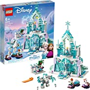 LEGO Disney Princess Elsa's Magical Ice Palace 43172 Toy Castle Building Kit with Mini Dolls, Castle Playset with Popular Fr
