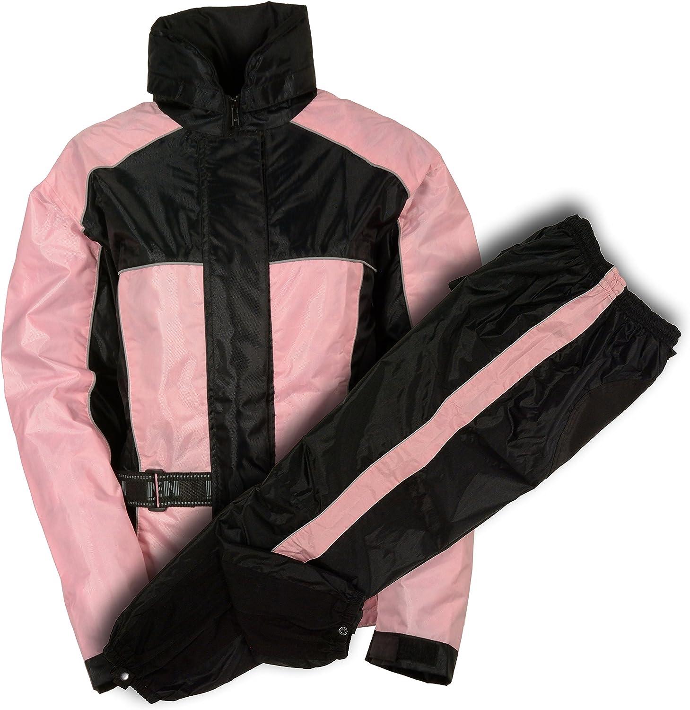 NexGen Women's Rain Suit (Black/Pink, X-Large)