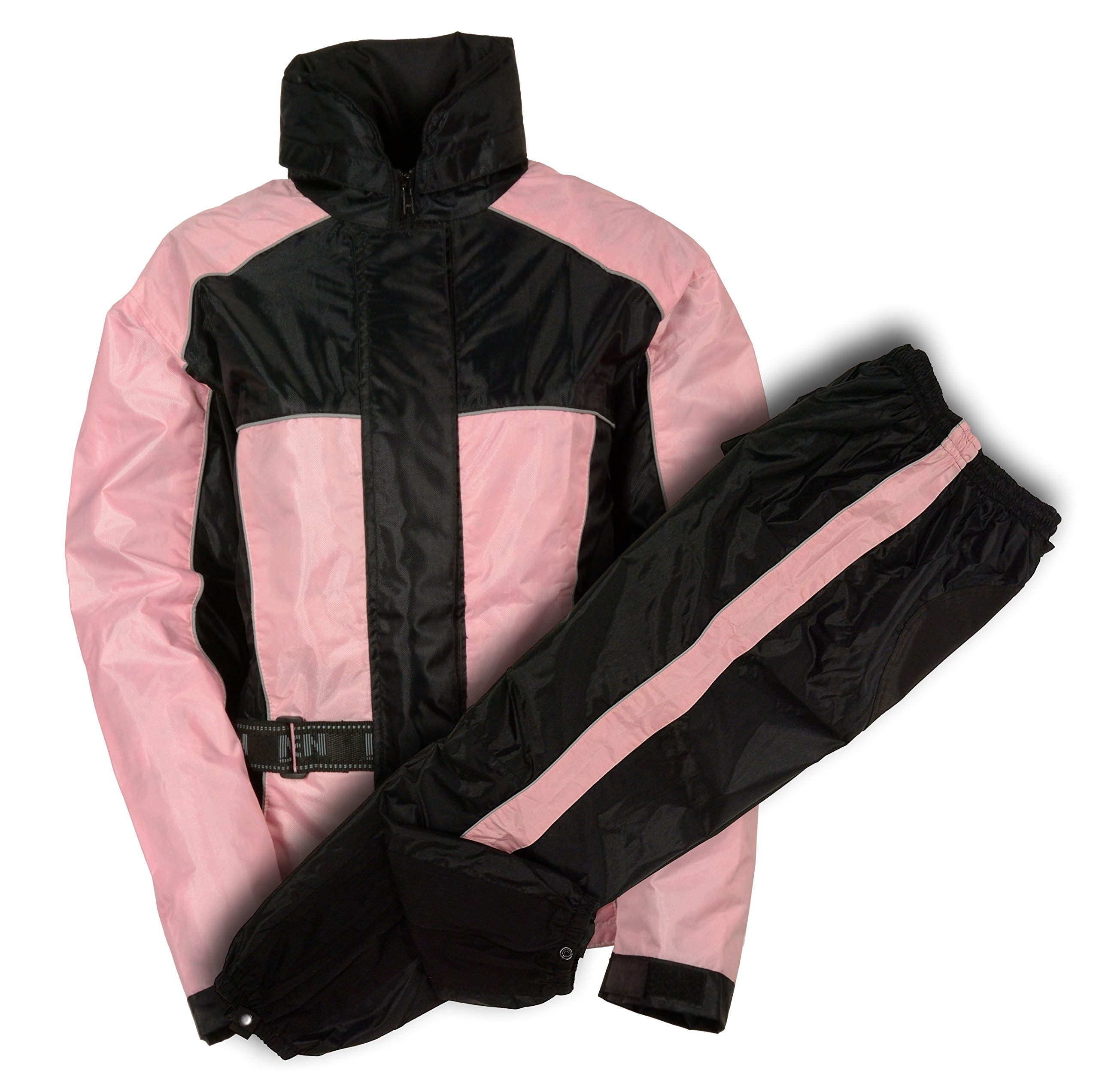 Nexgen Women's Rain Suit (Black/Pink, Medium)