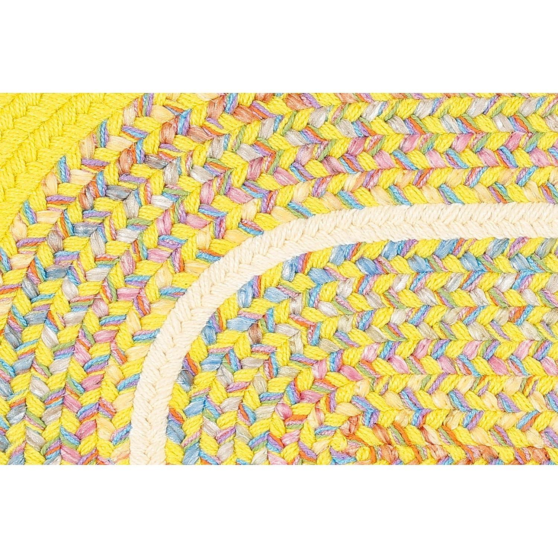 2 X 3 Oval Super Area Rugs Juvi Braided Rug Solid Rug Textured Durable Blue Kids Nursery Childrens Carpet