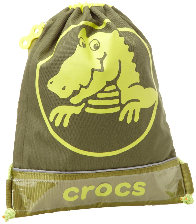 Crocs Little Girls  Duke Sackpack Army//Citrus Medium Crocs Accessories-Kids
