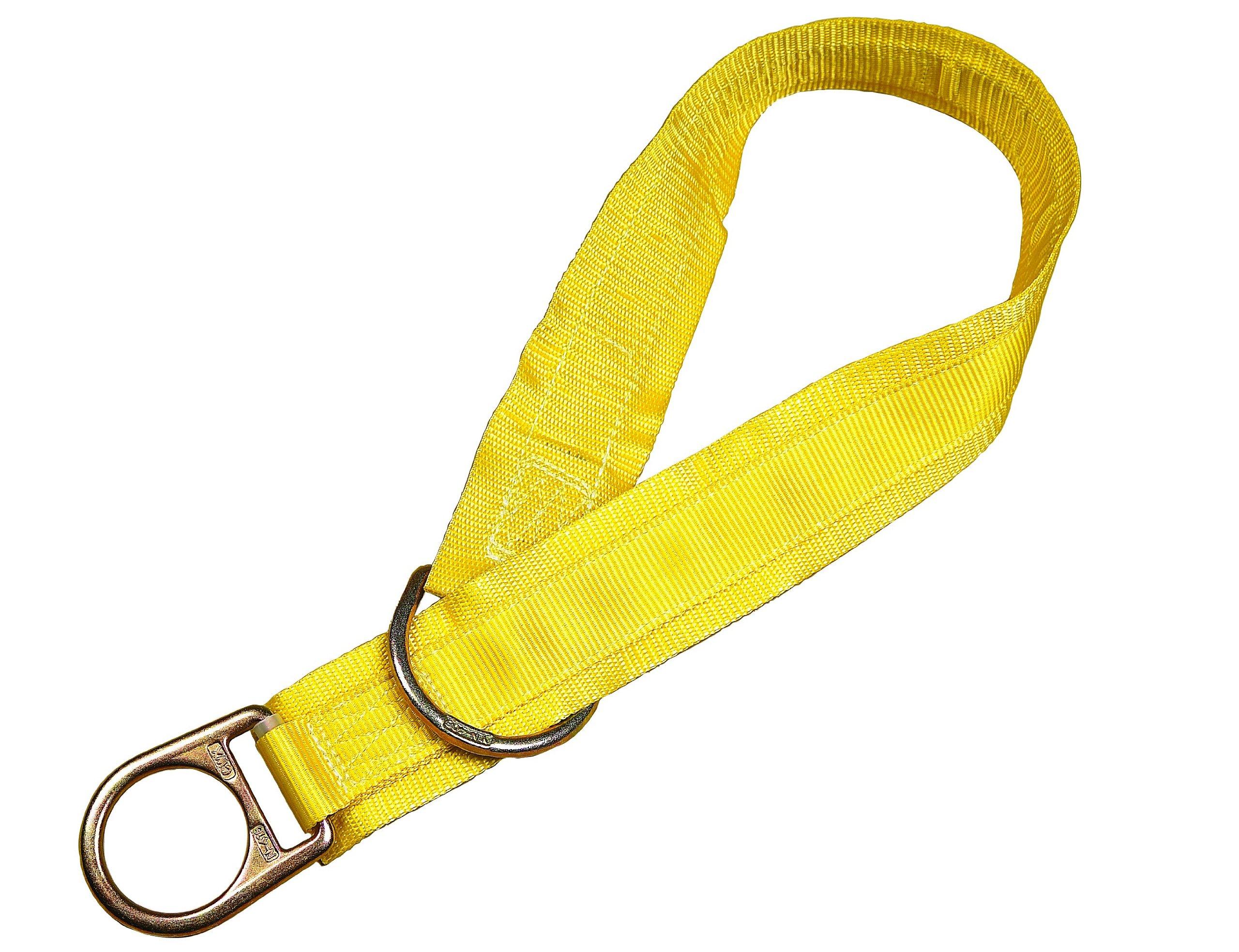 3M DBI-SALA 1003006 Tie Off Adaptor, 6', Pass-Thru Type, with 3'' Wear Pad, Yellow