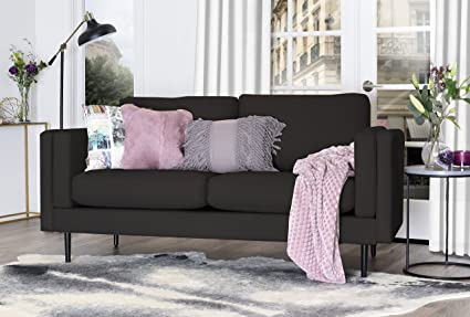 Elle Decor Simone Sofa - Charcoal
