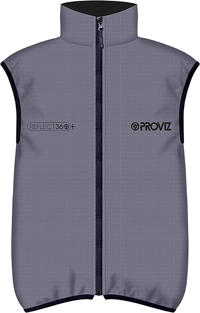 Proviz Reflect360+ Men's Reflective Cycling Vest, Silver