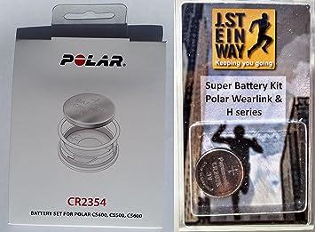 Kit pila genuino con la tapa de la batería para Polar Pulsómetro de ...
