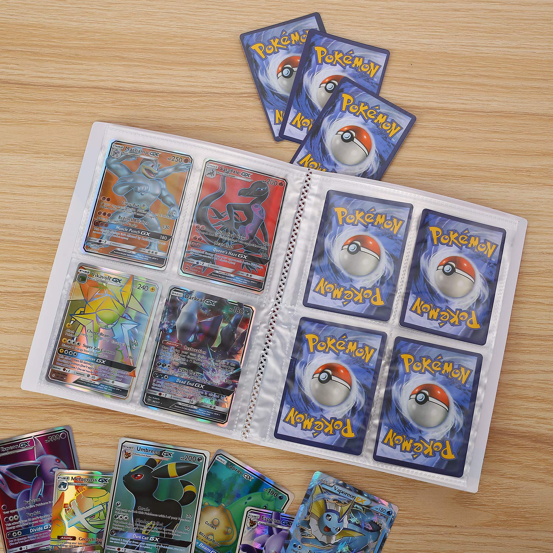 Comercio Tarjeta /Álbum Pokemon Cards Album Protecci/ón Gris Pok/émon Titular de Tarjetas Collection Handbook Pokemon Cartas /Álbum