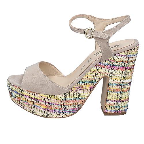 Scamosciata BeigeAmazon Pelle Geneve it Sandali Shoes Donna wXnP8N0Ok