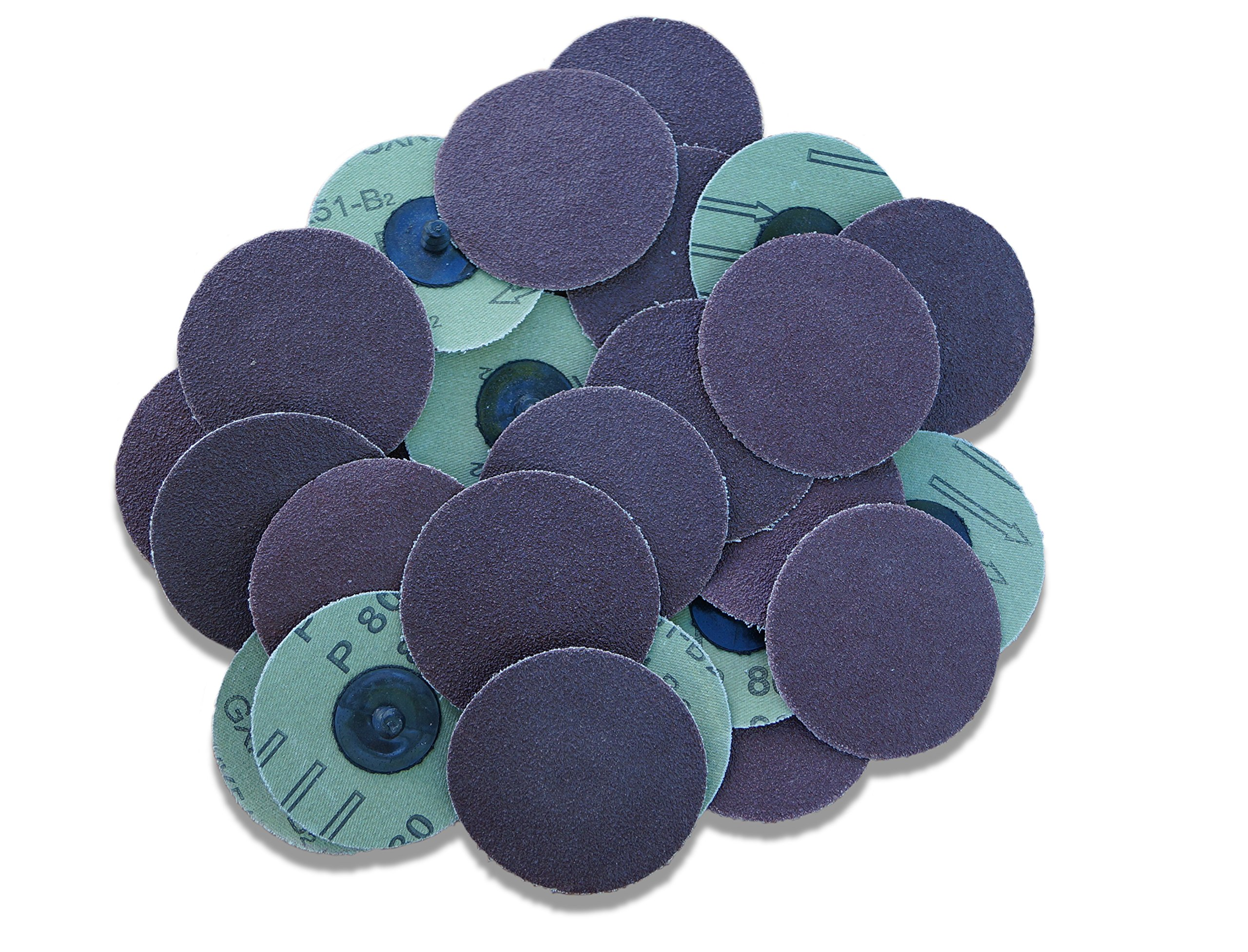 25pc 3'' Roloc Discs 80 Grit R Type Sanding Abrasive Roll Lock Medium Coarse Grain by IIT (Image #5)