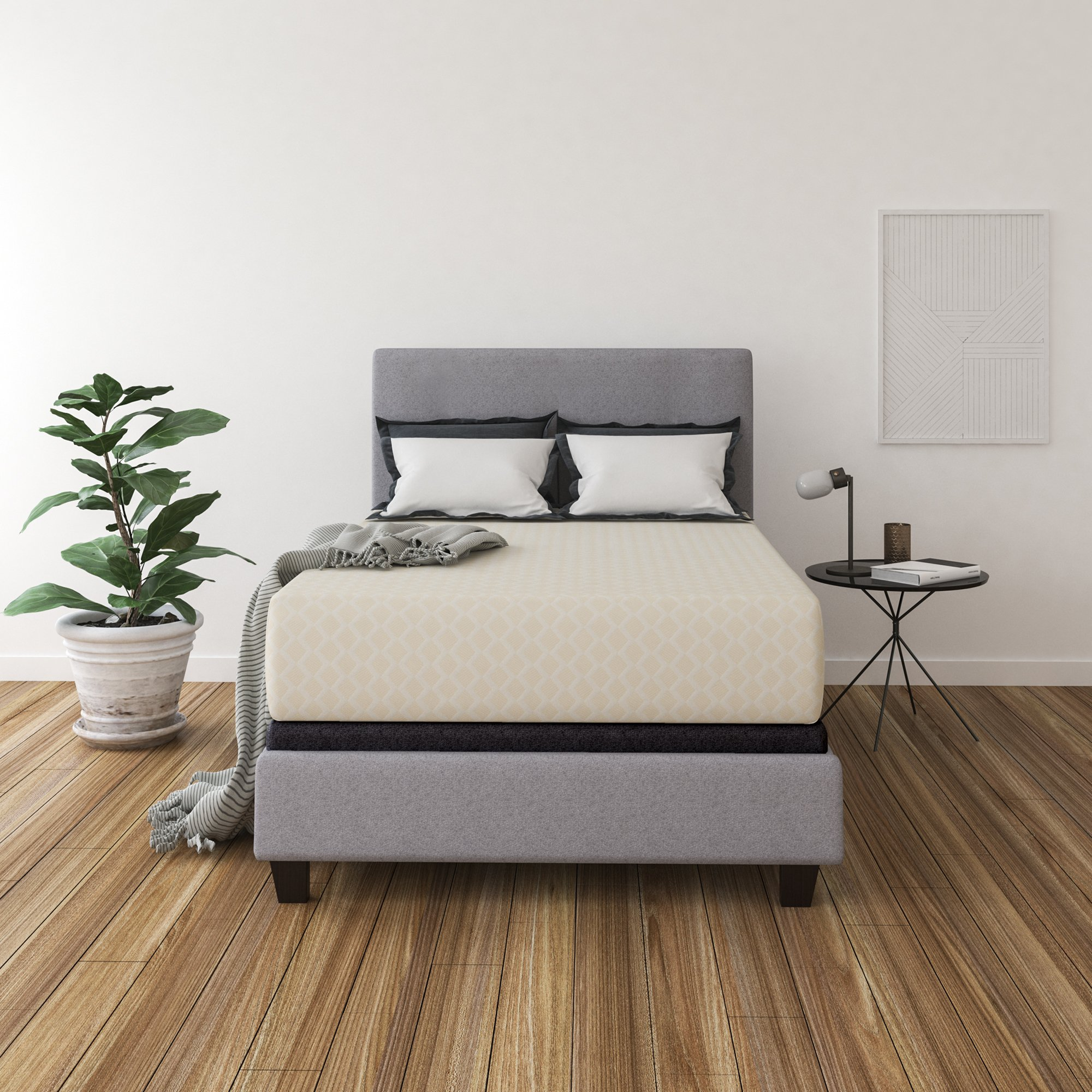 Ashley Furniture Signature Design - 12 Inch Chime Express Memory Foam Mattress - Bed in a Box - Full - Firm Comfort Level - White by Signature Design by Ashley