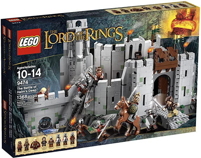NEW 1368Pcs The Lord of the Rings The Battle Of Helm/'s Deep Building Block Toys