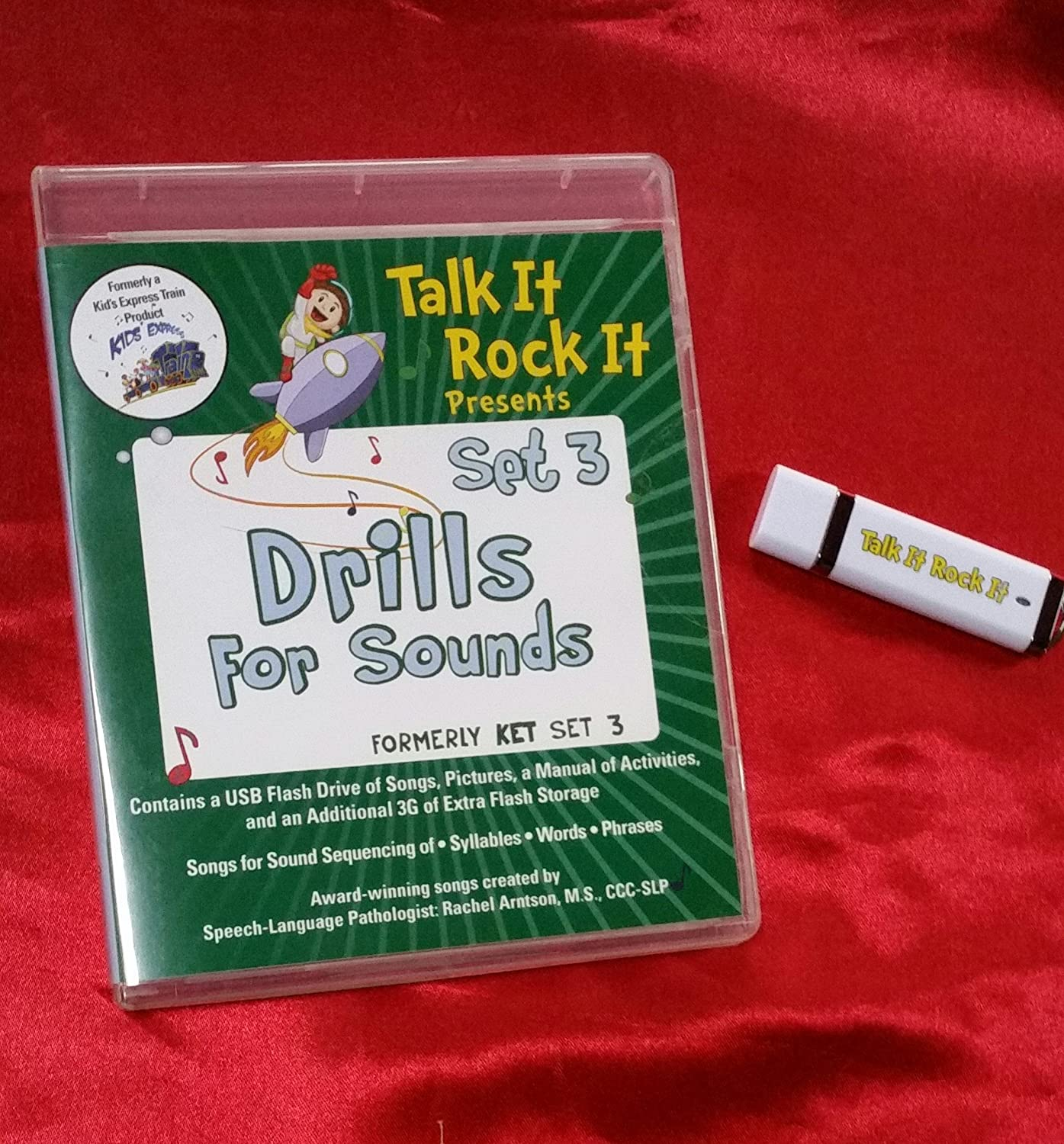Drills for Sounds USB Songs and Visuals for speech and articulation practice