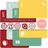 Plastic Cutting Board Mat Set – Large Flexible Chopping Boards – Kitchen Mats, Dishwasher Safe, Foldable by Eparé