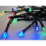 Best Artificial (TM) 50 Multi Coloured LED Outdoor Waterproof Battery 8 Multi-Function String Lights with Timer 5M Length Party Fairy Christmas