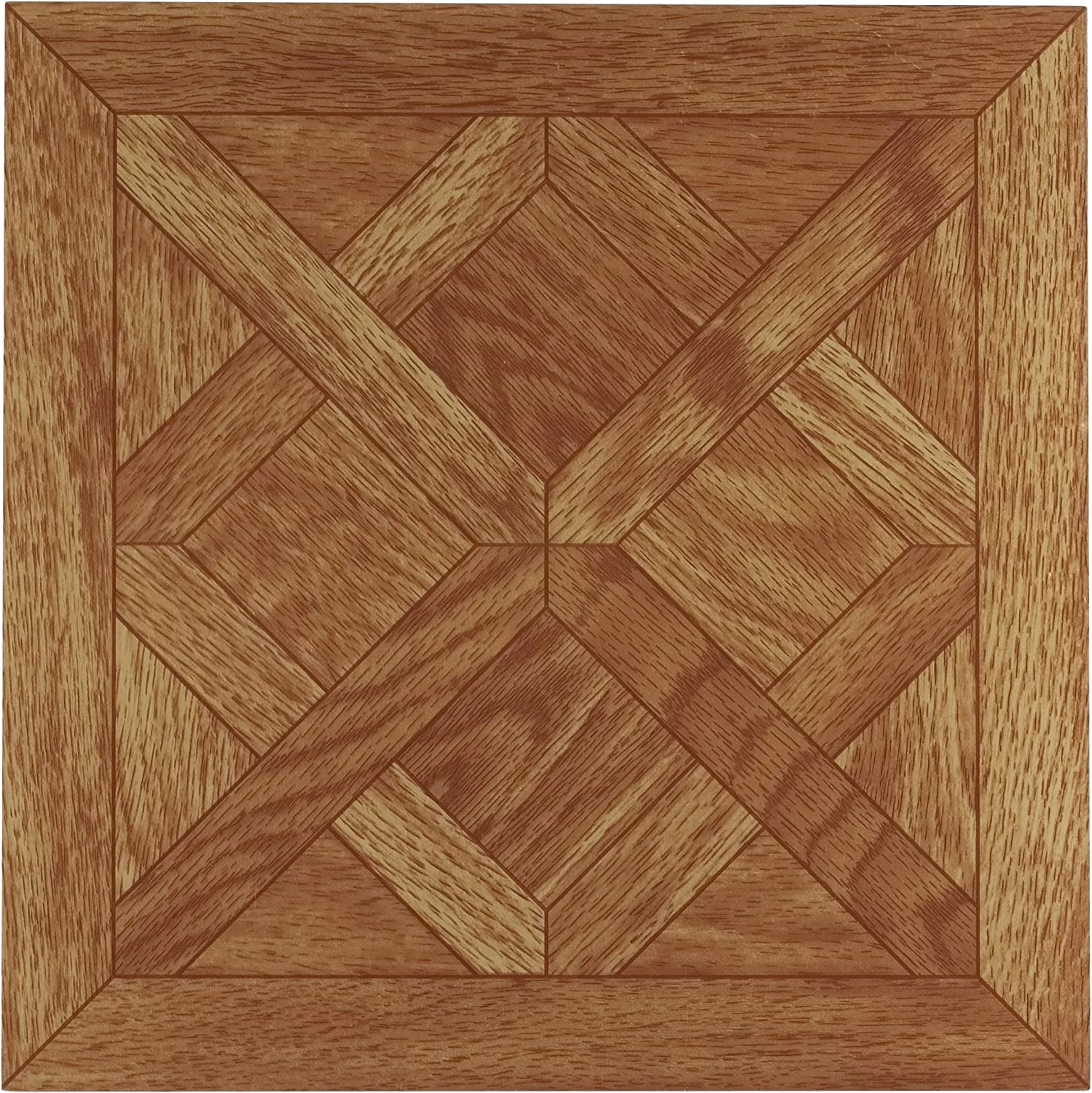 Achim Home Furnishings FTVWD20120 Nexus 12-Inch Vinyl Tile, Wood Classic Parquet Oak, 20-Pack