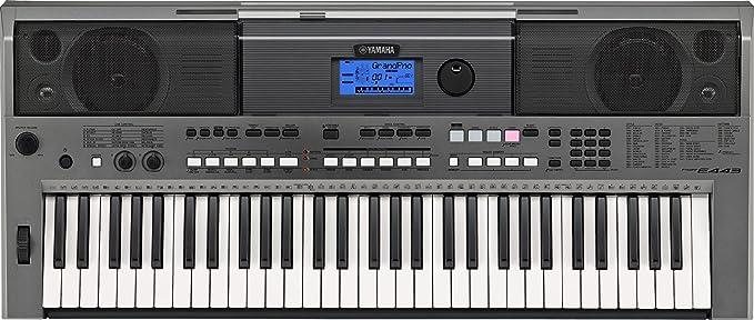 Yamaha PSR-E443 - Teclado portátil de 61 teclas, color plateado