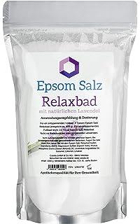 Epsom Sal Relax baño con naturales Lavanda/lavanda – Magnesio para Baden – 1000 g – Ideal para…