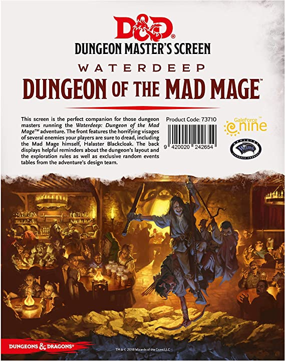 Gale Force Nine 73710 D&D Waterdeep Dungeon of The Mad Mage - Pantalla DM: Amazon.es: Juguetes y juegos