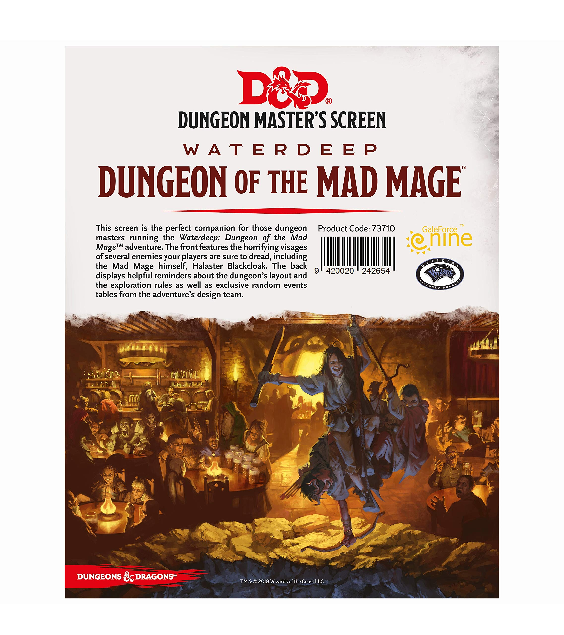 Dungeons & Dragons - Dungeon of The Mad Mage DM Screen by Gale Force Nine