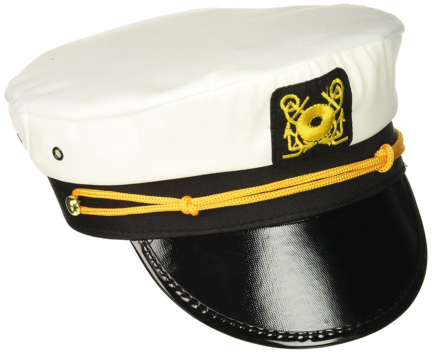 Rhode Island Novelty Adult Yacht Captain Hat Costume Accessory-One size p-am221A